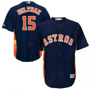 Wholesale Cheap Astros #15 Carlos Beltran Navy Blue Cool Base Stitched Youth MLB Jersey