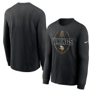 Wholesale Cheap Minnesota Vikings Nike Icon Legend Performance Long Sleeve T-Shirt Black