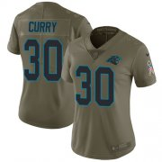Wholesale Cheap Nike Panthers #30 Stephen Curry Olive Women's Stitched NFL Limited 2017 Salute to Service Jersey