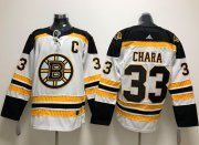 Wholesale Cheap Adidas Bruins #33 Zdeno Chara White Road Authentic Stitched NHL Jersey