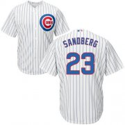 Wholesale Cheap Cubs #23 Ryne Sandberg White Home Stitched Youth MLB Jersey