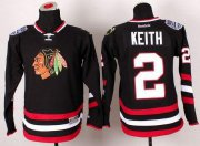 Wholesale Cheap Blackhawks #2 Duncan Keith Black 2014 Stadium Series Stitched Youth NHL Jersey
