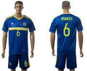 Wholesale Cheap Bosnia Herzegovina #6 Vranjes Home Soccer Country Jersey