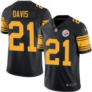 Wholesale Cheap Nike Steelers #21 Sean Davis Black Men's Stitched NFL Limited Rush Jersey
