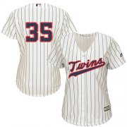Wholesale Cheap Twins #35 Michael Pineda Cream Strip Alternate Women's Stitched MLB Jersey