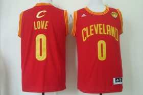 Wholesale Cheap Men\'s Cleveland Cavaliers #0 Kevin Love 2015 The Finals Red Jersey