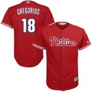Wholesale Cheap Phillies #18 Didi Gregorius Red Cool Base Stitched Youth MLB Jersey