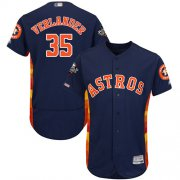Wholesale Cheap Astros #35 Justin Verlander Navy Blue Flexbase Authentic Collection 2019 World Series Bound Stitched MLB Jersey