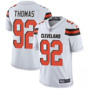 Wholesale Cheap Nike Browns #92 Chad Thomas White Men's Stitched NFL Vapor Untouchable Limited Jersey