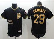 Wholesale Cheap Pirates #29 Francisco Cervelli Black Flexbase Authentic Collection Stitched MLB Jersey