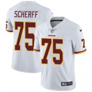 Wholesale Cheap Nike Redskins #75 Brandon Scherff White Men's Stitched NFL Vapor Untouchable Limited Jersey