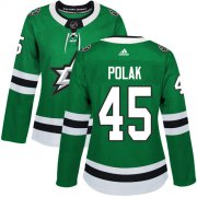 Cheap Adidas Stars #45 Roman Polak Green Home Authentic Women's Stitched NHL Jersey