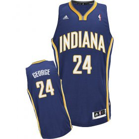 Wholesale Cheap Indiana Pacers #24 Paul George Navy Blue Swingman Jersey