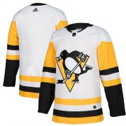 Wholesale Cheap Adidas Penguins Blank White Road Authentic Stitched Youth NHL Jersey