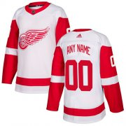 Wholesale Cheap Men's Adidas Red Wings Personalized Authentic White Road NHL Jersey