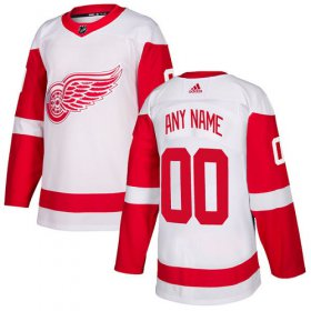 Wholesale Cheap Men\'s Adidas Red Wings Personalized Authentic White Road NHL Jersey