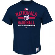 Wholesale Cheap Washington Nationals Majestic Big & Tall Authentic Collection Team Property T-Shirt Navy