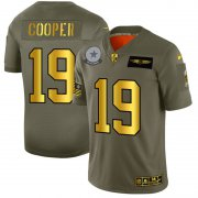 Wholesale Cheap Dallas Cowboys #19 Amari Cooper NFL Men's Nike Olive Gold 2019 Salute to Service Limited Jersey