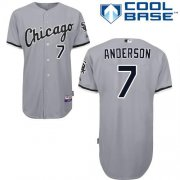 Wholesale Cheap White Sox #7 Tim Anderson Grey Road Cool Base Stitched Youth MLB Jersey