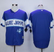 Wholesale Cheap Blue Jays Blank Blue Exclusive New Cool Base Stitched MLB Jersey