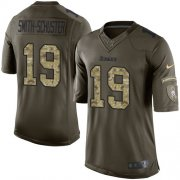 Wholesale Cheap Nike Steelers #19 JuJu Smith-Schuster Green Youth Stitched NFL Limited 2015 Salute to Service Jersey