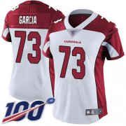 Wholesale Cheap Nike Cardinals #73 Max Garcia White Women's Stitched NFL 100th Season Vapor Untouchable Limited Jersey