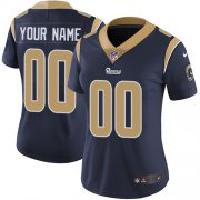 Wholesale Cheap Nike Los Angeles Rams Customized Navy Blue Team Color Stitched Vapor Untouchable Limited Women's NFL Jersey
