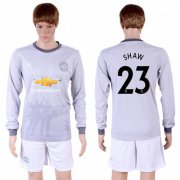 Wholesale Cheap Manchester United #23 Shaw Sec Away Long Sleeves Soccer Club Jersey