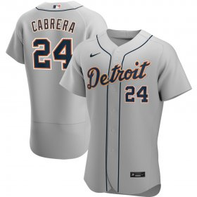 Wholesale Cheap Detroit Tigers #24 Miguel Cabrera Men\'s Nike Gray Road 2020 Authentic Player MLB Jersey