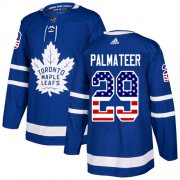 Wholesale Cheap Adidas Maple Leafs #29 Mike Palmateer Blue Home Authentic USA Flag Stitched NHL Jersey