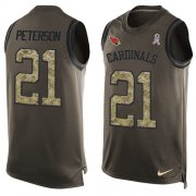 Wholesale Cheap Nike Cardinals #21 Patrick Peterson Green Men's Stitched NFL Limited Salute To Service Tank Top Jersey