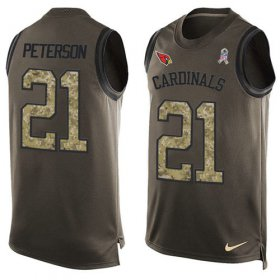 Wholesale Cheap Nike Cardinals #21 Patrick Peterson Green Men\'s Stitched NFL Limited Salute To Service Tank Top Jersey