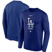 Wholesale Cheap Men's Los Angeles Dodgers Nike Royal Authentic Collection Legend Performance Long Sleeve T-Shirt