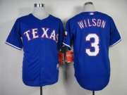 Wholesale Cheap Rangers #3 Russell Wilson Blue Cool Base Stitched MLB Jersey