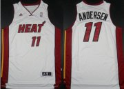Wholesale Cheap Miami Heat #11 Chris Andersen Revolution 30 Swingman White Jersey