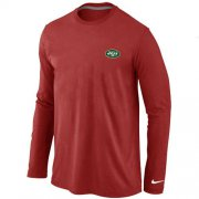 Wholesale Cheap Nike New York Jets Sideline Legend Authentic Logo Long Sleeve T-Shirt Red
