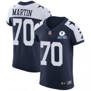 Wholesale Cheap Nike Cowboys #70 Zack Martin Navy Blue Thanksgiving Men's Stitched With Established In 1960 Patch NFL Vapor Untouchable Throwback Elite Jersey