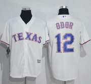 Wholesale Cheap Rangers #12 Rougned Odor White New Cool Base Stitched MLB Jersey