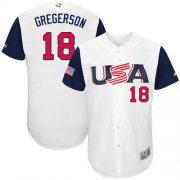 Wholesale Cheap Team USA #18 Luke Gregerson White 2017 World MLB Classic Authentic Stitched MLB Jersey