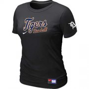 Wholesale Cheap Women's Detroit Tigers Nike Short Sleeve Practice MLB T-Shirt Black