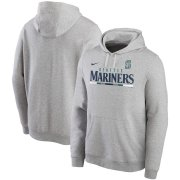 Wholesale Cheap Seattle Mariners Nike Color Bar Club Pullover Hoodie Gray