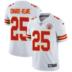 Wholesale Cheap Nike Chiefs #25 Clyde Edwards-Helaire White Youth Stitched NFL Vapor Untouchable Limited Jersey