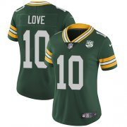 Wholesale Cheap Nike Packers #10 Jordan Love Green Team Color Women's 100th Season Stitched NFL Vapor Untouchable Limited Jersey