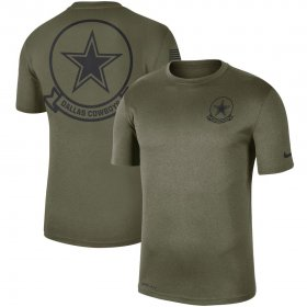 Wholesale Cheap Men\'s Dallas Cowboys Nike Olive 2019 Salute to Service Sideline Seal Legend Performance T-Shirt