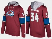 Wholesale Cheap Avalanche #34 Carl Soderberg Burgundy Name And Number Hoodie