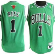 Wholesale Cheap Chicago Bulls #1 Derrick Rose Revolution 30 Swingman Green Jersey