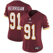 Wholesale Cheap Nike Redskins #91 Ryan Kerrigan Burgundy Red Team Color Women's Stitched NFL Vapor Untouchable Limited Jersey
