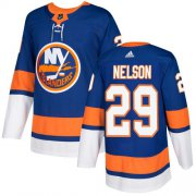 Wholesale Cheap Adidas Islanders #29 Brock Nelson Royal Blue Home Authentic Stitched NHL Jersey