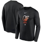 Wholesale Cheap Men's Baltimore Orioles Nike Black Authentic Collection Legend Performance Long Sleeve T-Shirt