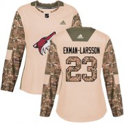 Wholesale Cheap Adidas Coyotes #23 Oliver Ekman-Larsson Camo Authentic 2017 Veterans Day Women's Stitched NHL Jersey